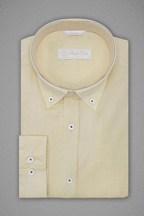 Горчичная однотонная рубашка