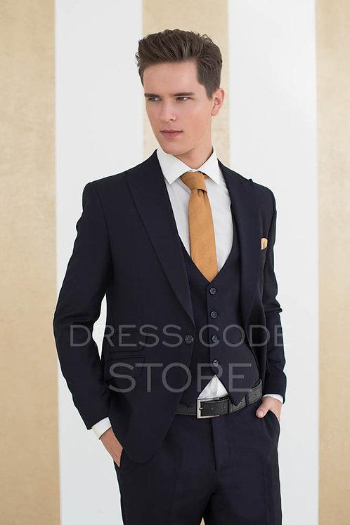 широкий лацкан костюм спб синий деловой костюм