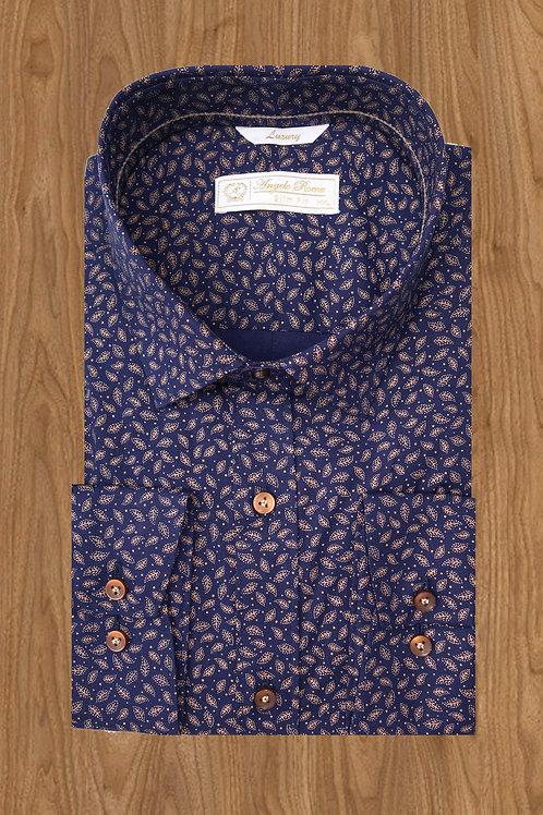 Рубашка  синяя с лепестками