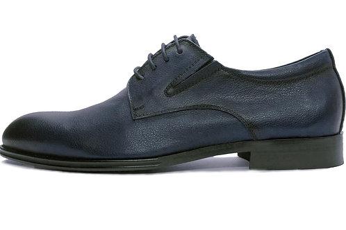 Туфли из гладкой синей кожи
