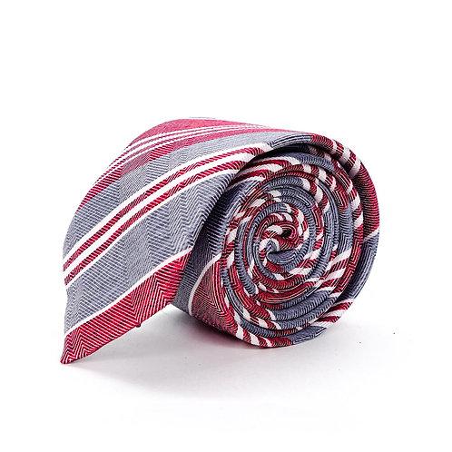 Прокат галстук серый в полоску