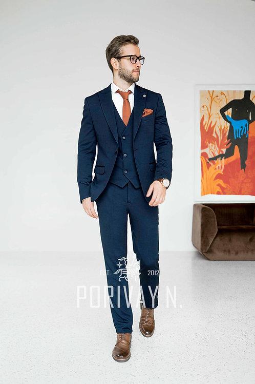 Трикотажный синий костюм RONNI