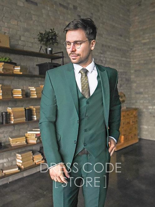 Мужской костюм изумрудного цвета LESTER