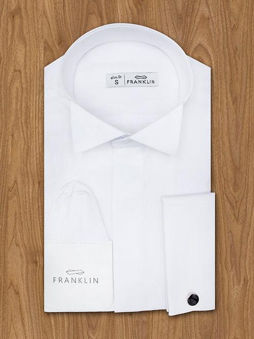 Рубашка под бабочку + запонки + платочек