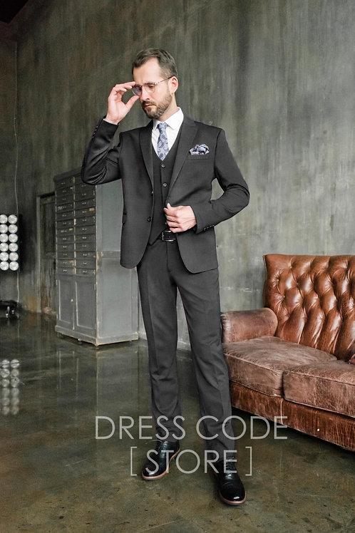 Черный стрейчевый костюм AISEC