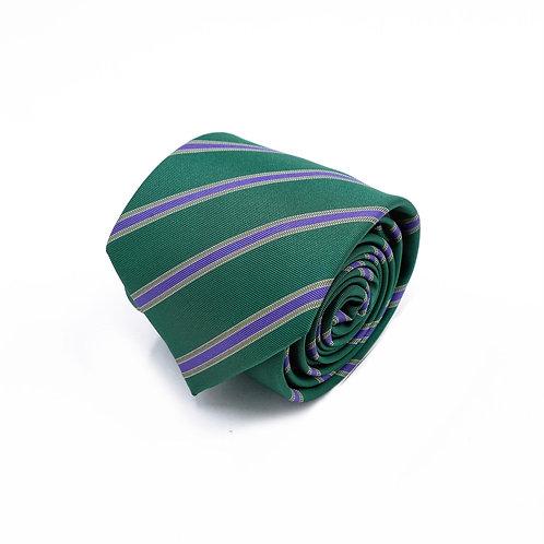Прокат зеленый галстук в полоску