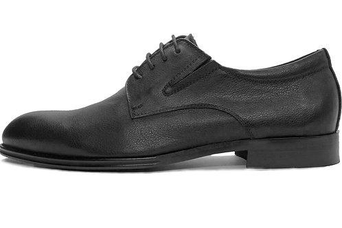 Туфли из гладкой черной кожи