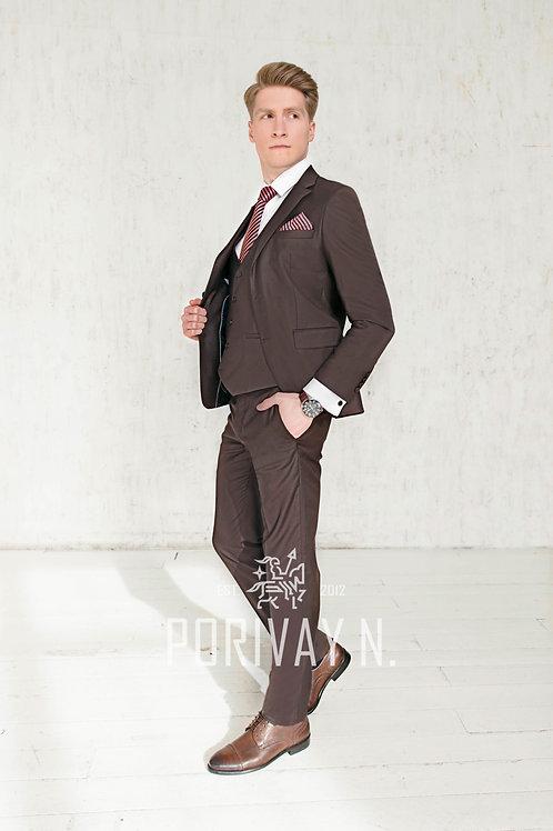 Темно-коричневый костюм BROWN Premium