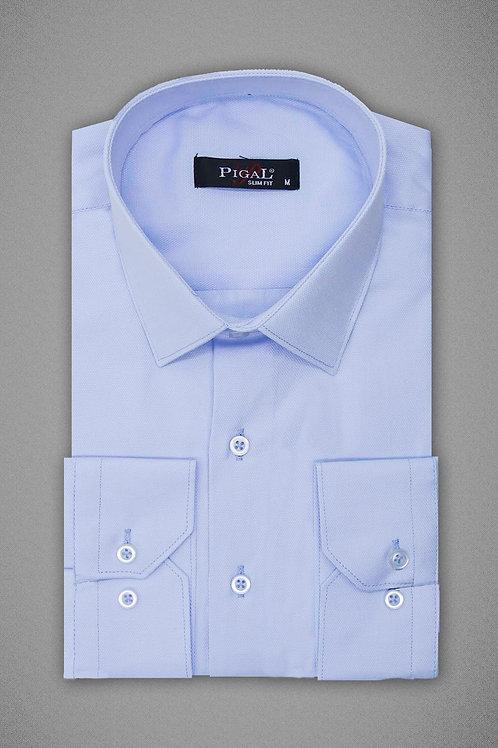 Нежно голубая фактурная рубашка
