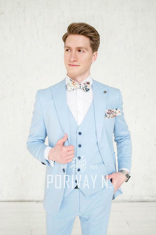 Голубой трикотажный костюм JOSHUA