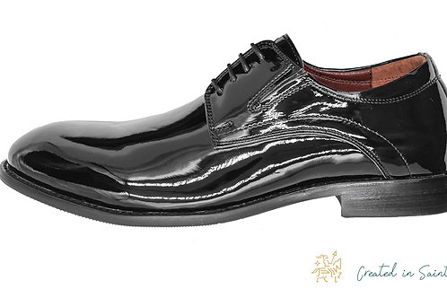 Туфли из черной лаковой кожи, к смокингу