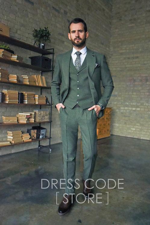 Шерстяной костюм зеленый  BERGE