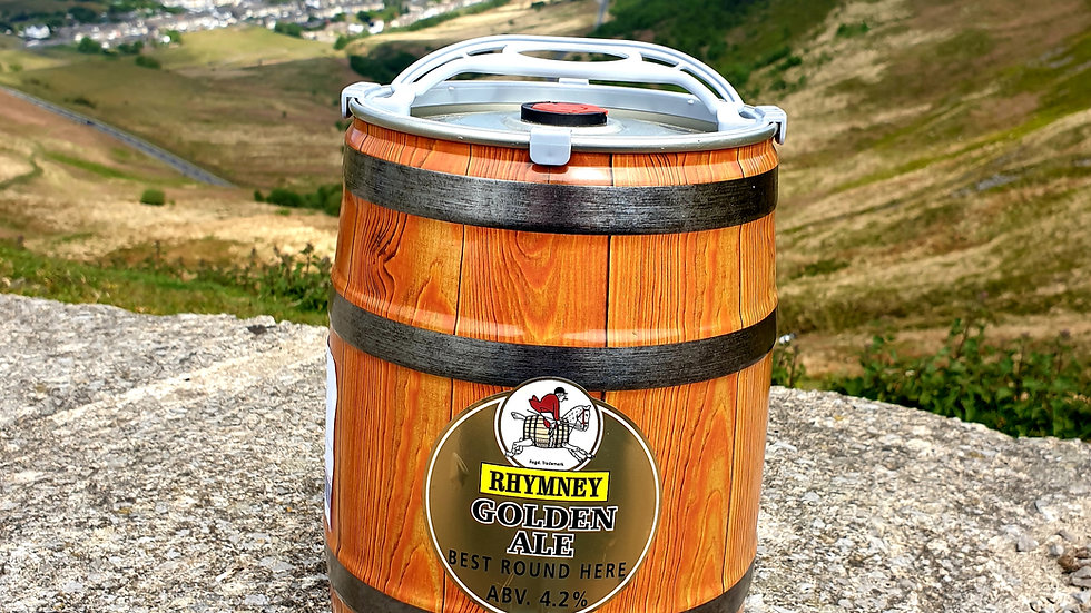 Rhymney Gold Mini Keg