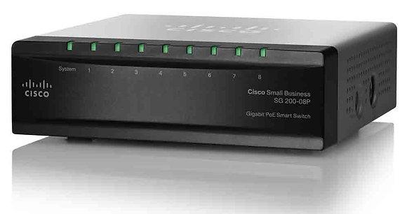 Cisco SG200-08P 8-Port Gigabit POE Smart Switch