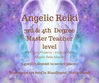 Angelic Reiki 3rd & 4th Master Teacher l