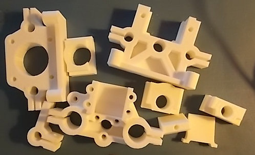 3-dimensional printed plastic pump parts kit