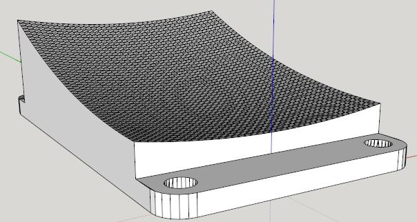 Parabolic reflector in Sketchup