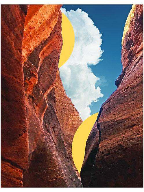 Golden Slot Canyon Print