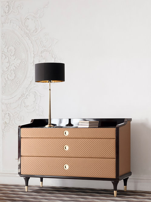 4215/26 Upholstered chest of drawers