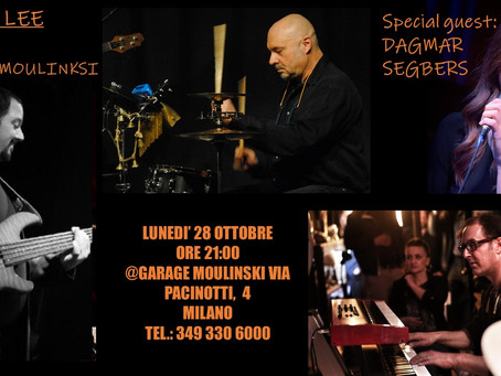 """Monday, 28th October 9:00 PM live as Special guest with band """"Bella Lee"""" @ Garage Moulinski Milan"""