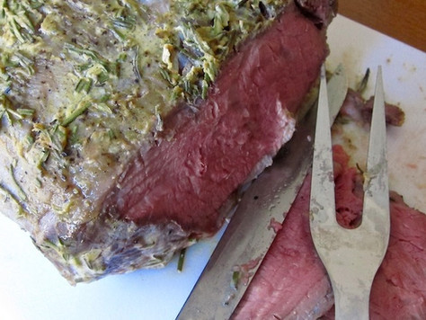 Roast Beef With Horseradish And Roasted Garlic Mayonnaise