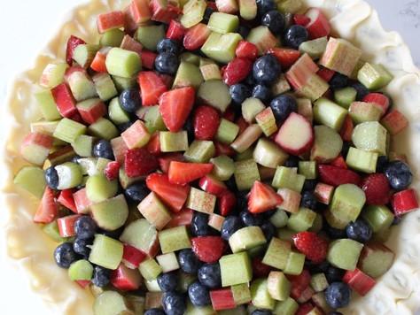 Semaine des tartes chez Saveur : rhubarbe, fraises et bleuets
