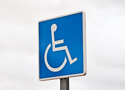 reserved parking sign for handicapped pe