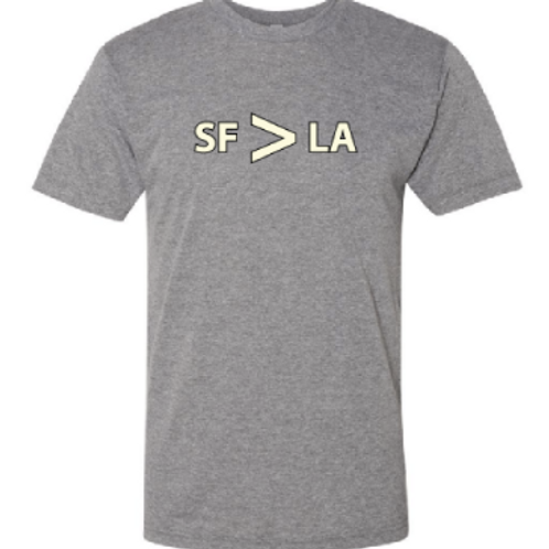 SF > LA Light Grey/Cream Womens T-Shirt