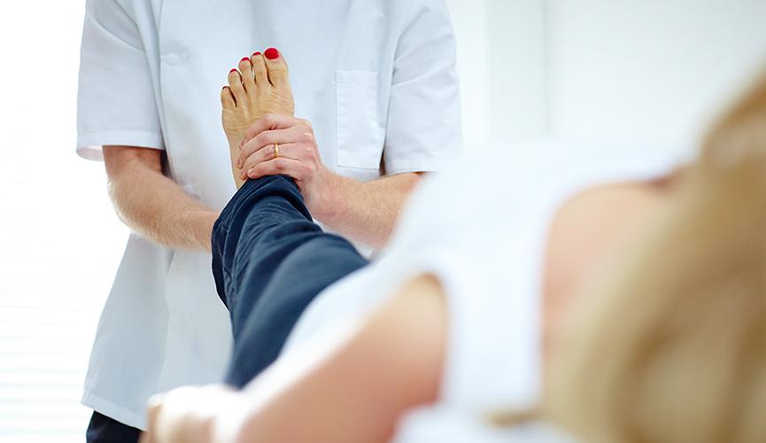 Schmerzen im Fußgelenk