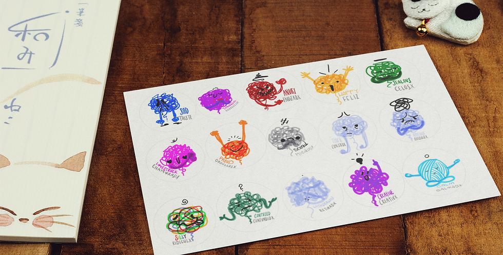 Scribble Feeling Stickers