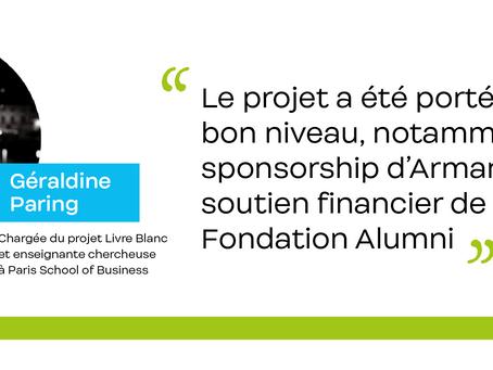 Interview de Géraldine Paring, chargée du projet Livre Blanc Paris School of Business