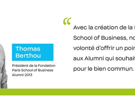 Interview de Thomas Berthou, président de la Fondation Paris School of Business