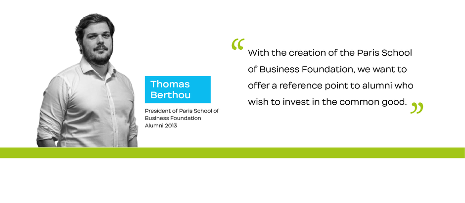 Interview with Thomas Berthou, President of the Paris School of Business Foundation