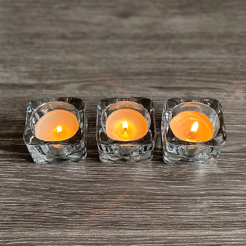 Set of 3 Glass Tea Light Holders