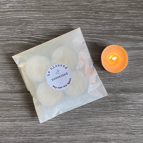 Unscented Soy Tea Lights
