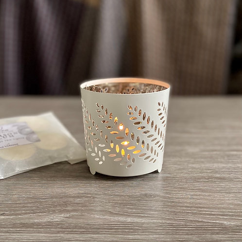 White/Silver Tea Light Holder