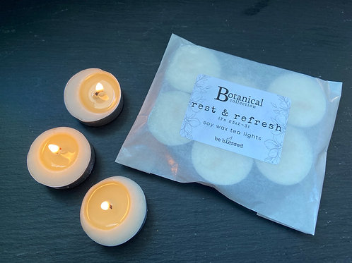 Rest & Refresh Luxury Tea Lights