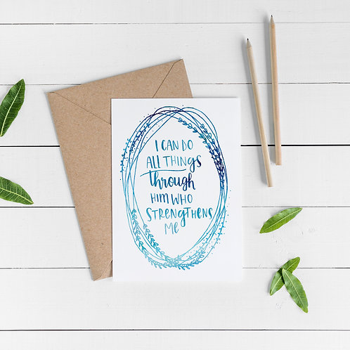 'I Can Do All Things' Card
