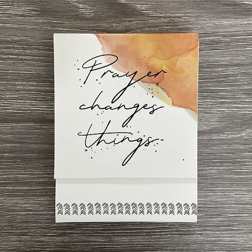 Prayer Changes Things Notepad
