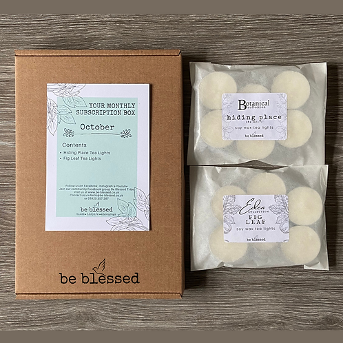 3 Month Small Tea Light Subscription Box