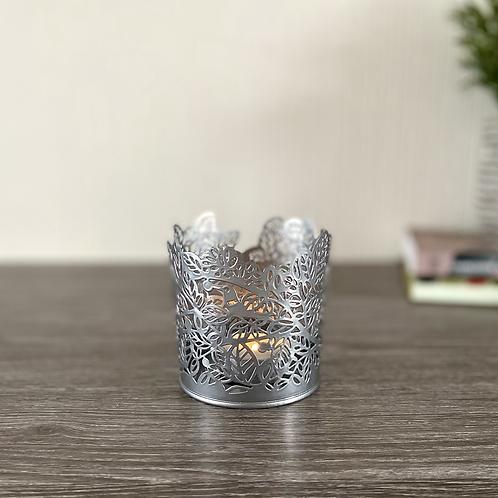 Silver Tea Light Holder