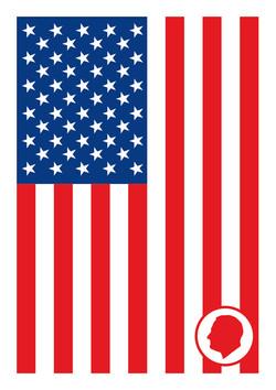 Velcro Label-USA Flag