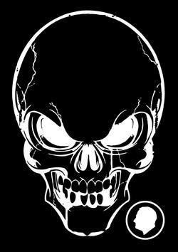 Velcro Label-Skull