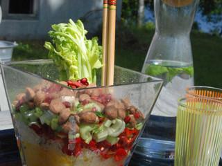 sour sweet salad-in-a-vase