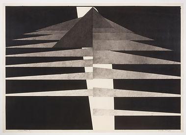 Seventeen Triangles 1975 64.5 x 90.5 cm
