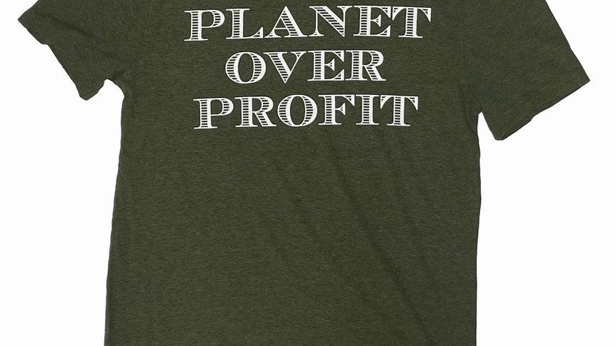 Original Unisex Planet Over Profit TEE (Money Green)