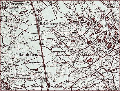 Detail Ferrariskaart Houthalen-Helchteren