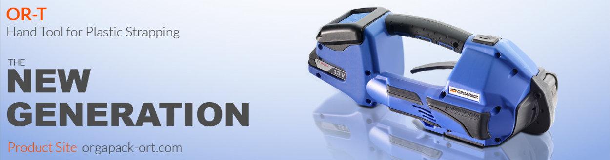 ORGAPACK 塑帶手持電池打包機 ORT260