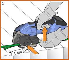 ORGAPACK 電池手持打包機打包步驟 2