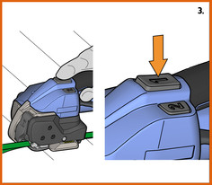 ORGAPACK 電池手持打包機打包步驟 3